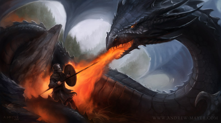 Beowulf against the Dragon by Andimayer