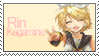 Rin Kagamine -STAMP- by ScaredyBunny