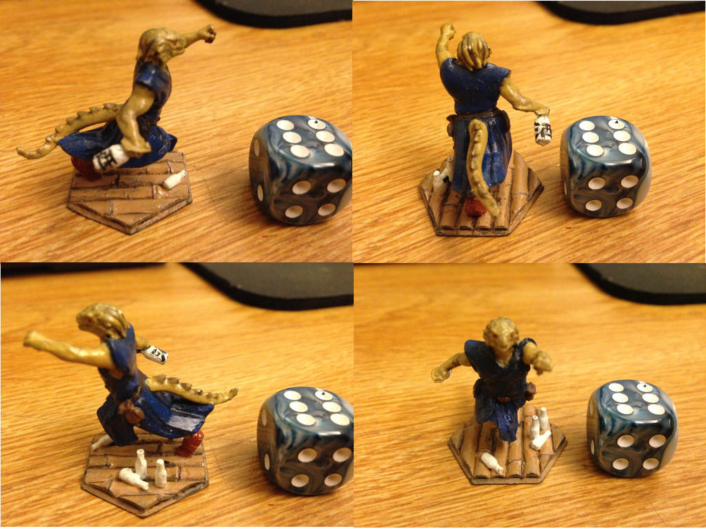 Dungeons and Dragons Miniature: Drunk Dragonborn by ResettisReplicas