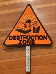 Fan sign for Rusty from Battlebots