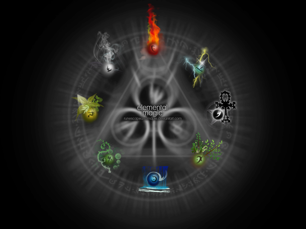 Elemental Magic Wallpaper by runescapeandmaple
