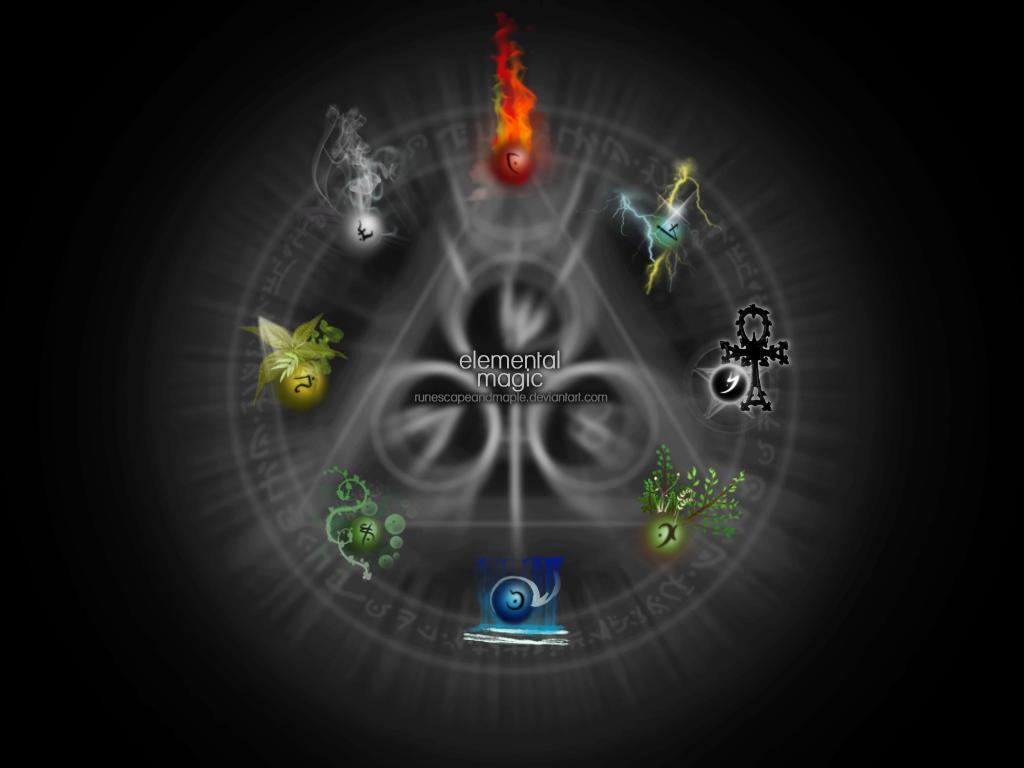 Elemental Magic Wallpaper by runescapeandmaple