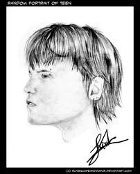 Portrait Sketch of a Teenager