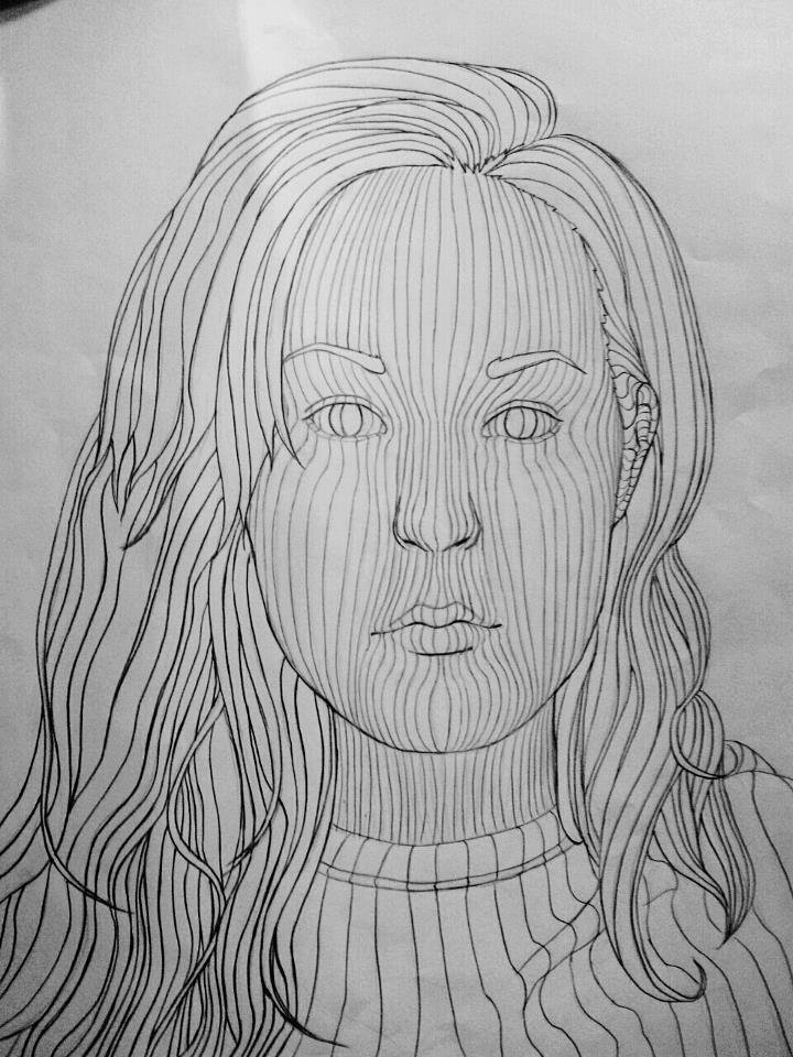 Contour Line Drawing People : Cross contour assignment by chelseagirly on deviantart