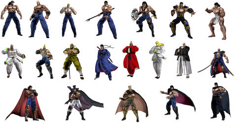 Sakigake!! Otokojuku PS3 Roster so far. by Salvy35z