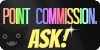 Point Commissions - Ask! / Creepy Rainbow Stamp by NotBrookie