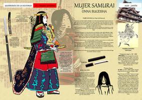 onna bugeisha, samurai woman by Ryoishen