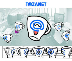 Tazanet, mascot corporate by Ryoishen