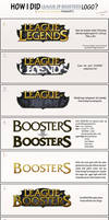How i did LEAGUE OF BOOSTERS logo? (tutorial) by Ryoishen