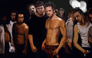 Fight club (1999) portrait fannart