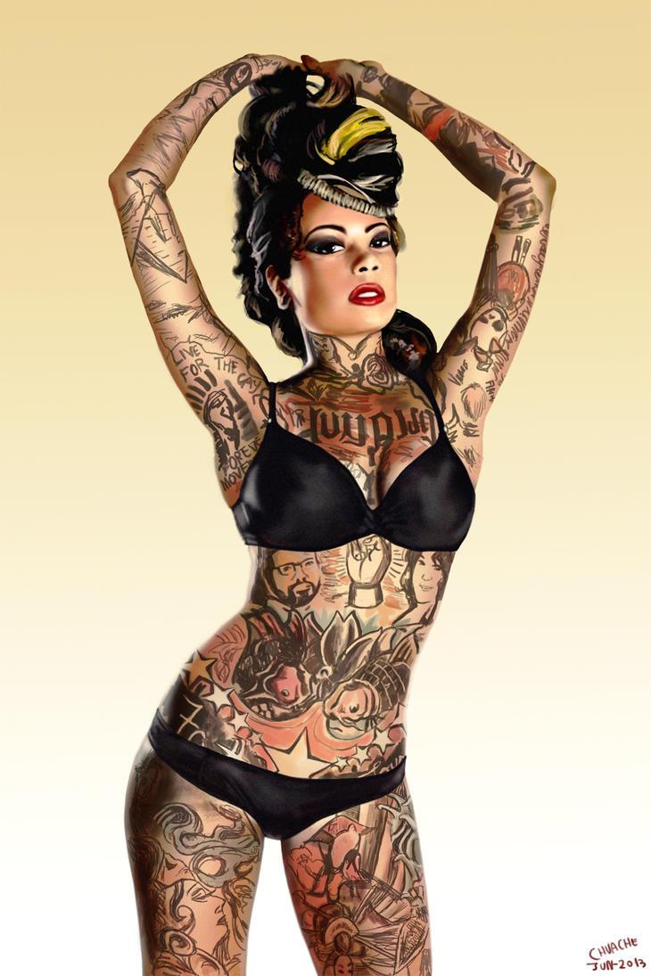 Tattoo Girl By Ryoishen On Deviantart
