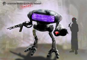 Robot de defensa comunitario GU-RIPPER 062 by Ryoishen