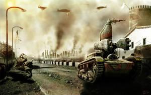 Guerra desde el campo. by Ryoishen