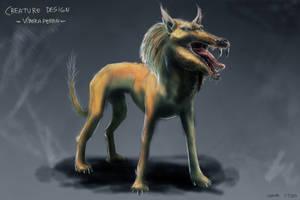Creature design - Serpienteperro by Ryoishen