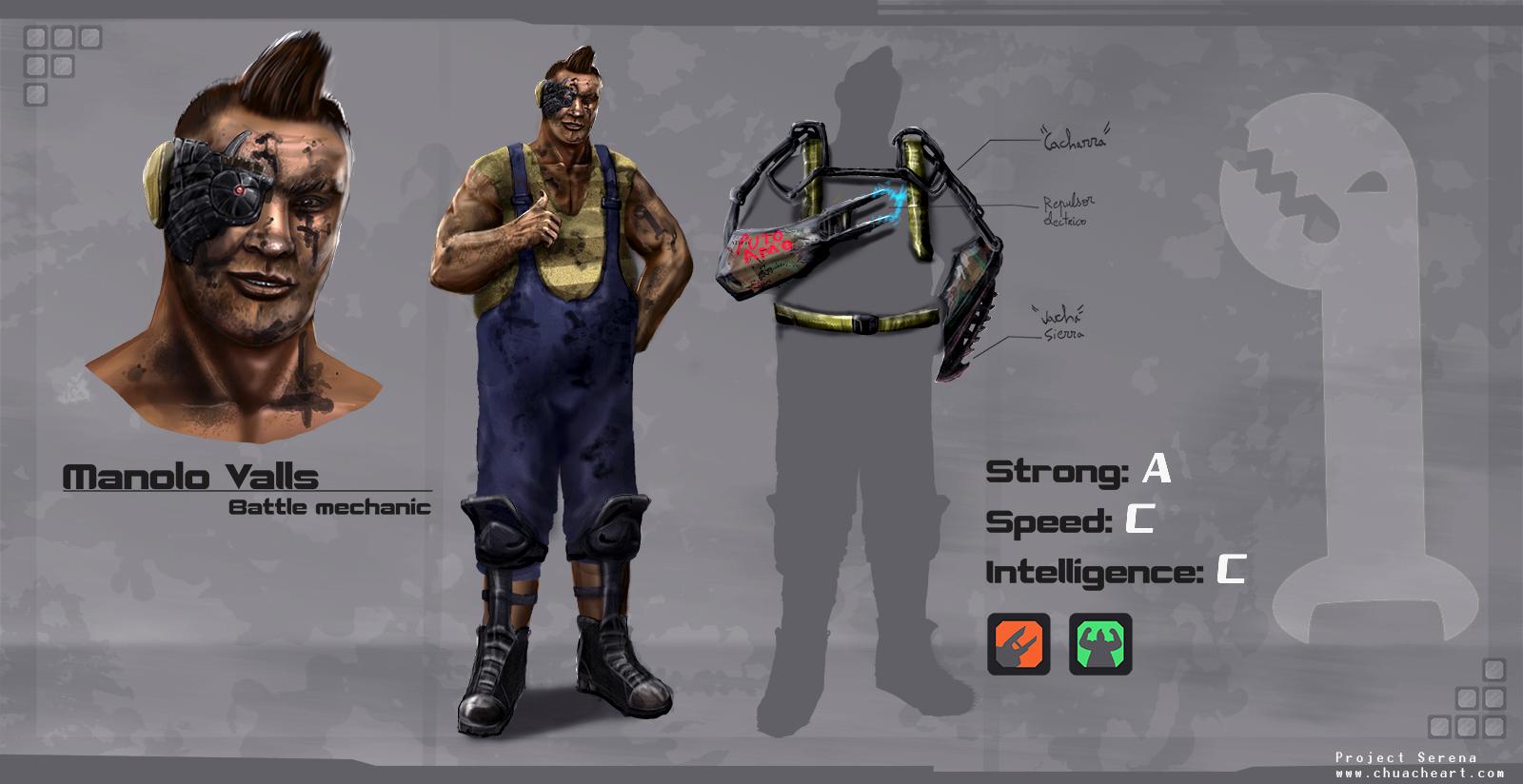 Manolo Valls - Combat mechanic by Ryoishen