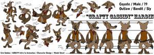 Cowboy Coyote - Model Sheet