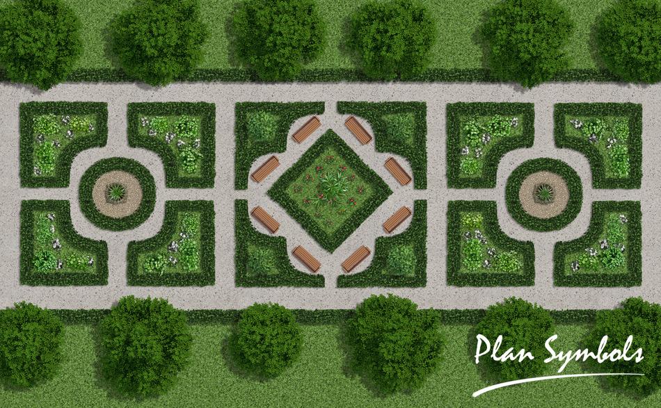 Landscape floor plan by plan symbols on deviantart for Landscape floor plan