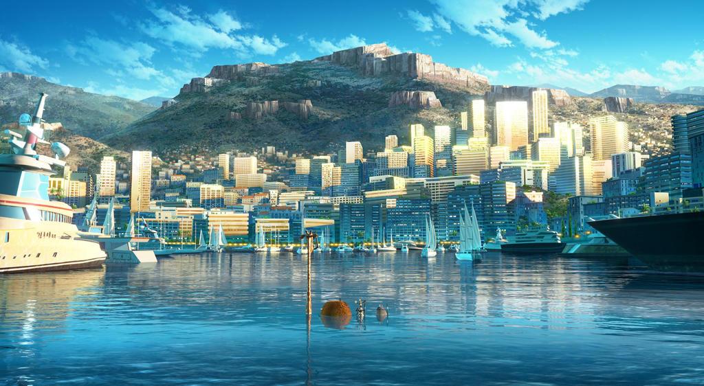 Monaco Buildings by CaraKhan
