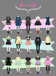 (CLOSED) Casual Outfit Adopts 02