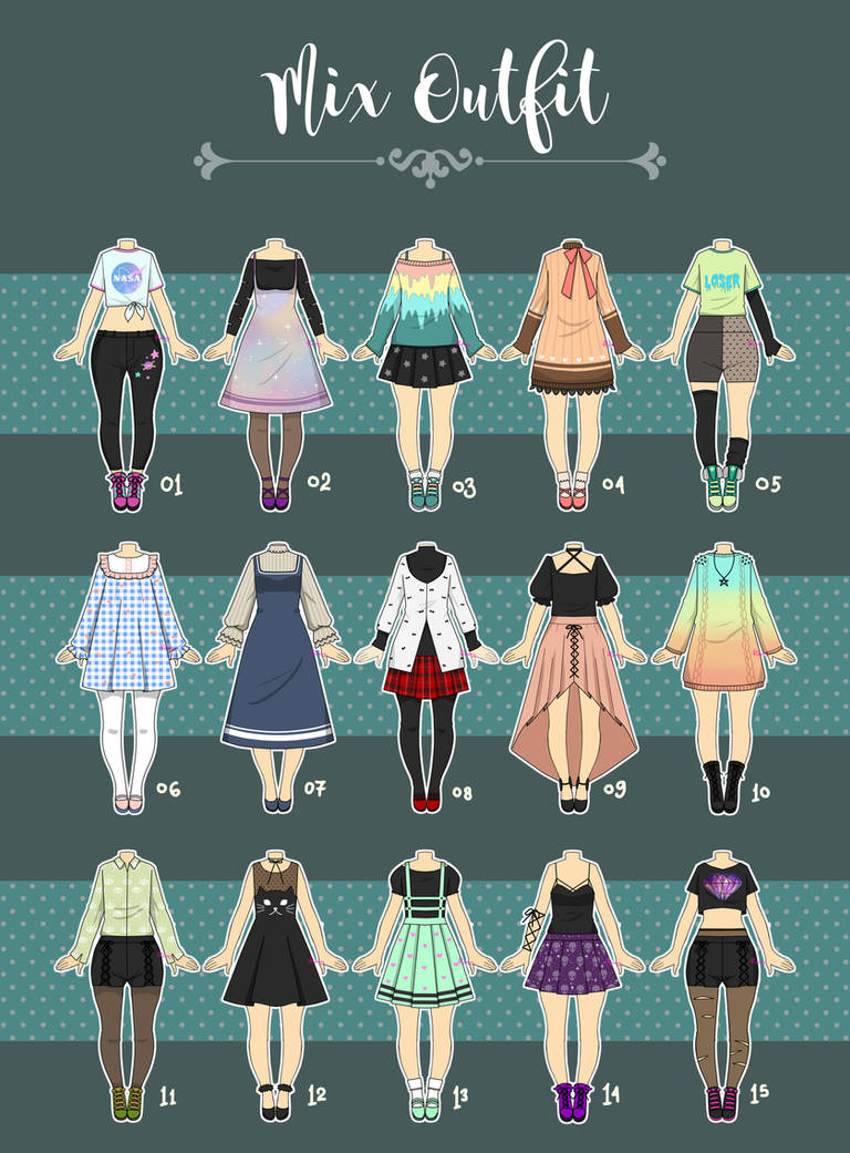 (CLOSED) Casual Outfit Adopts 07 by Rosariy on DeviantArt