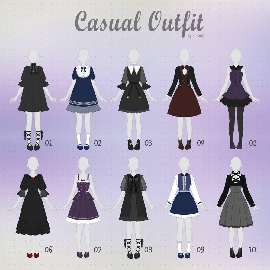 (CLOSED) CASUAL Outfit Adopts 26 by Rosariy on DeviantArt