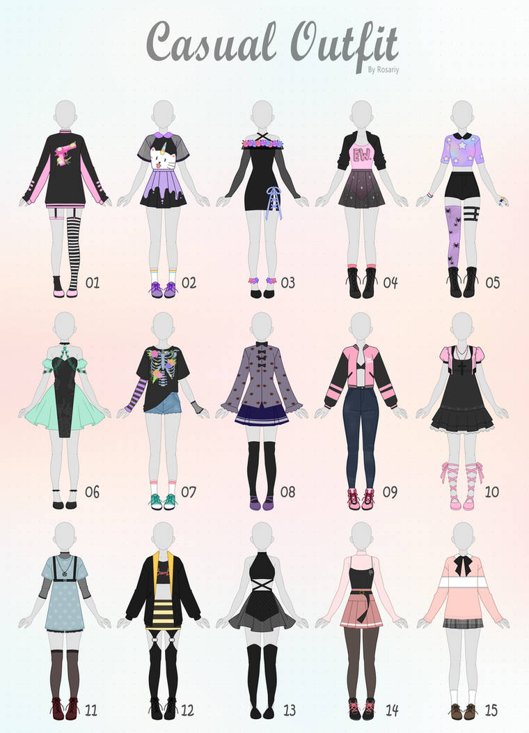 (CLOSED) CASUAL Outfit Adopts 31 by Rosariy on DeviantArt