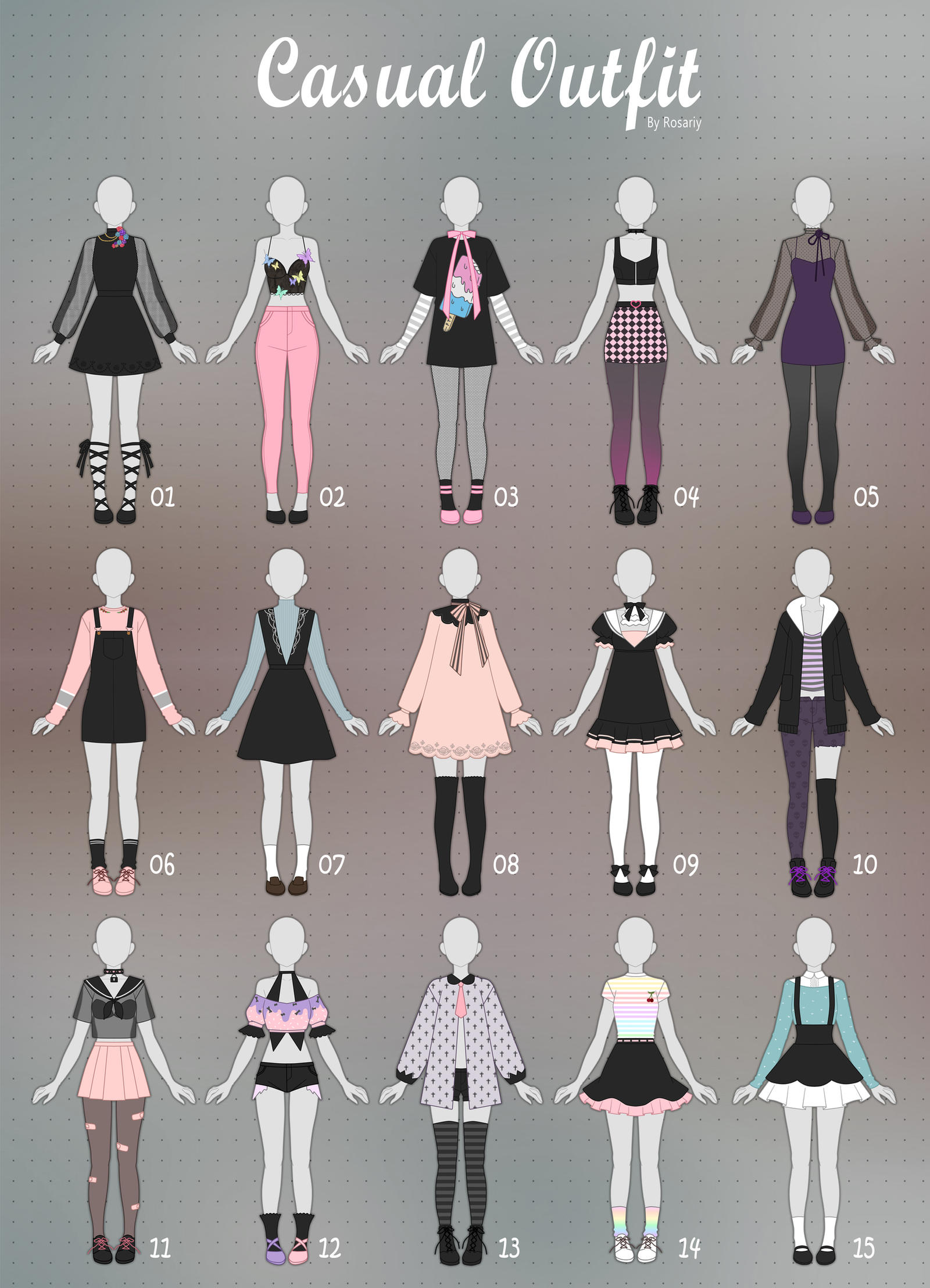 Closed Casual Outfit Adopts 32 By Rosariy On Deviantart