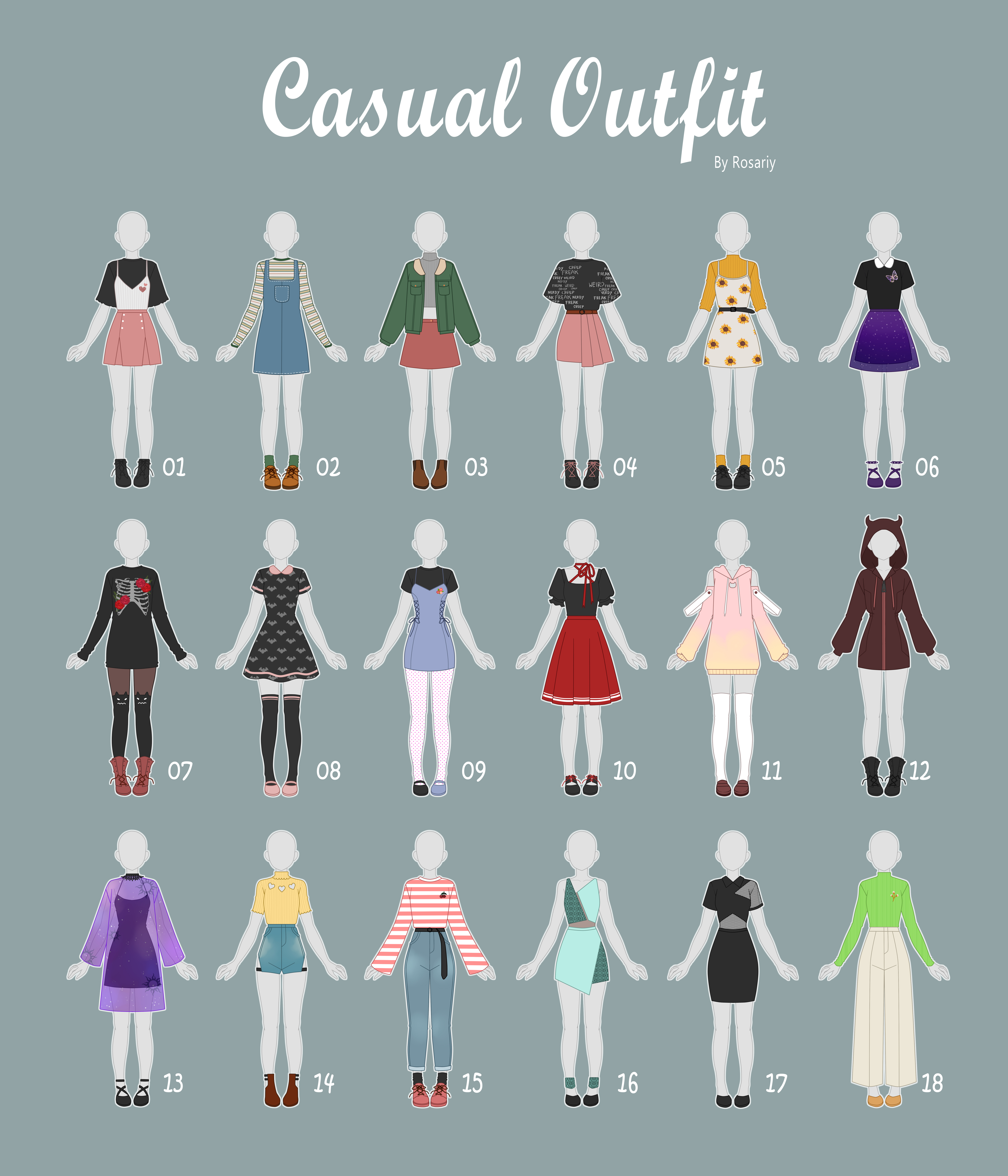 (CLOSED) CASUAL Outfit Adopts 38 by Rosariy on DeviantArt