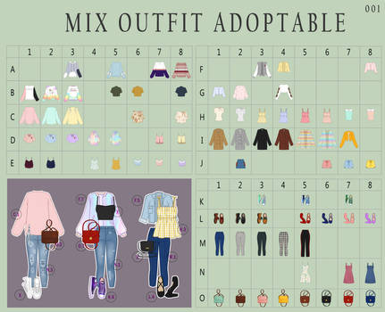 (OPEN 79/120) MIX outfits 01 - Adoptable