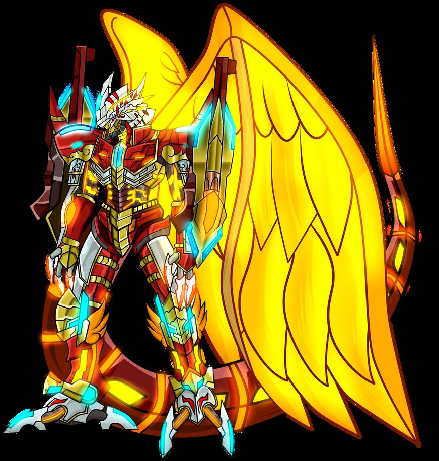 Burning-greymon X antibody by dragonnova52