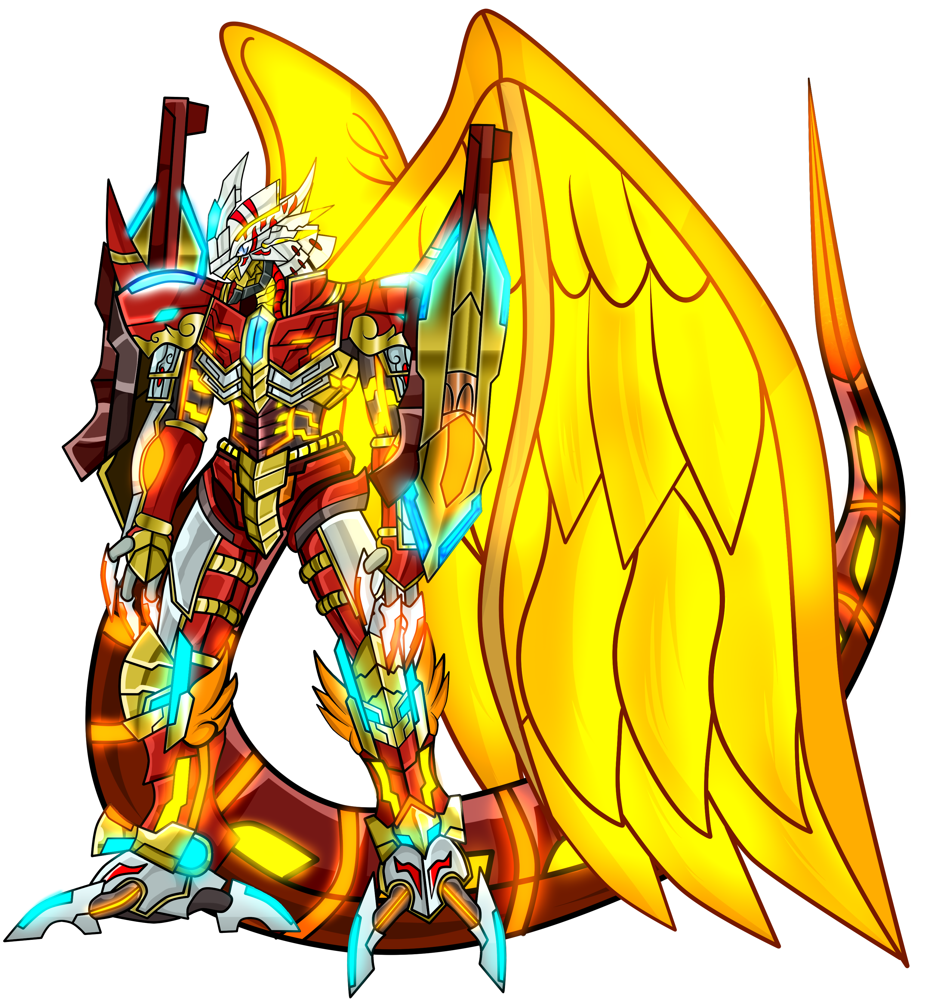 Burning-greymon X antibody by dragonnova52