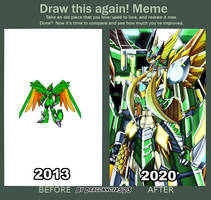 draw this again meme (Lisa challenge) by dragonnova52