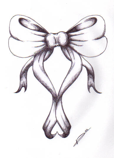 bow tattoo by Tiphanie.B France https://sunshineandscrap ...  |Bow Tattoo Sketches