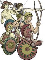 Greek Pantheon: Warriors by trixy-hobbitz