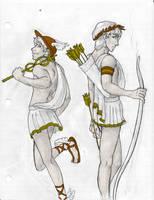 Greek Pantheon 2: Doodle by trixy-hobbitz
