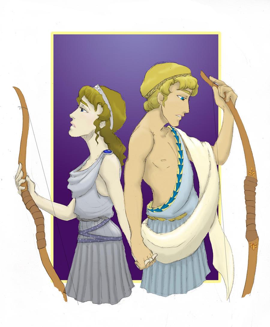 GkPan: Artemis-Apollo by trixy-hobbitz on DeviantArt