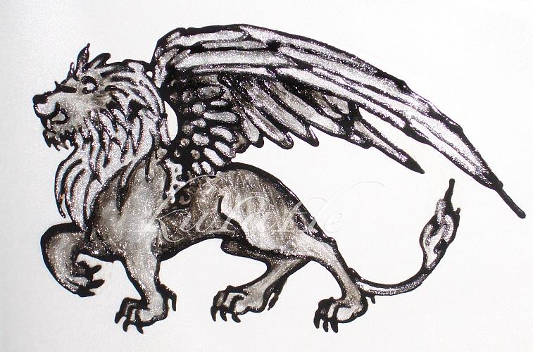 Winged lion tattoo - photo#16