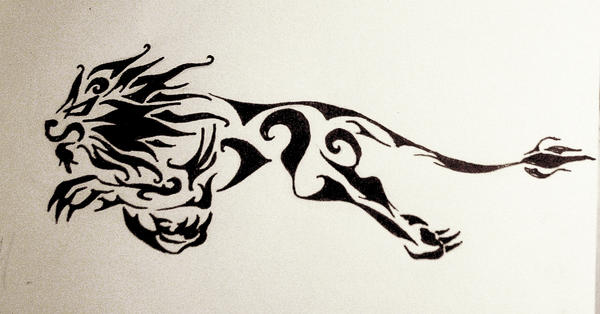 lion tattoo design by DanaScully
