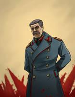 Joseph Stalin by contchi
