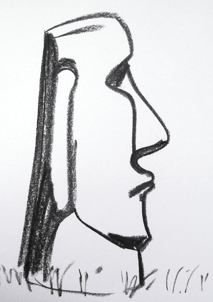 Easter Island Heads Drawing