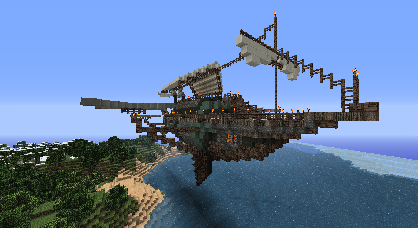 Simple Minecraft Steampunk Ship Related Keywords & Suggestions ...