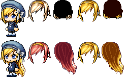 {Maplestory} Mixed Hair~ kekeke by AkuaChan