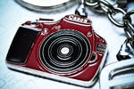 Canon EOS 1100D Red Keychain