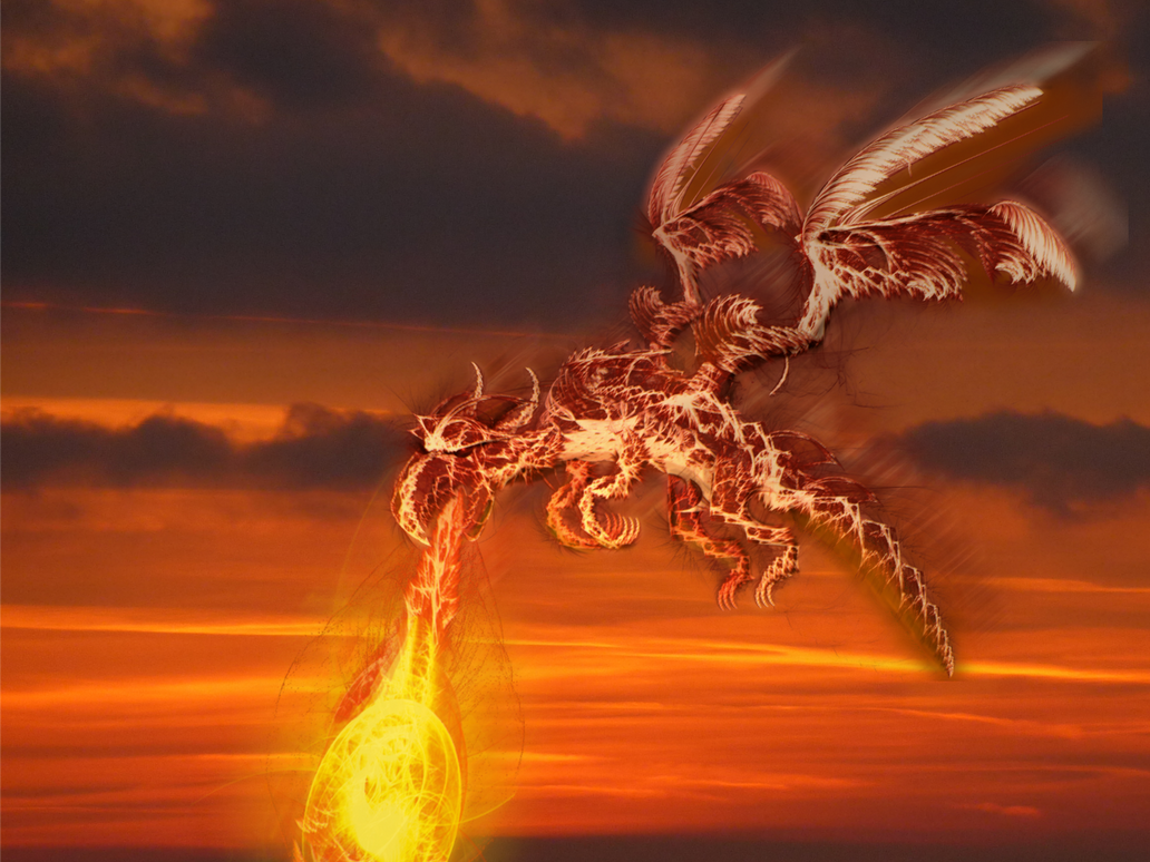Buring fractal dragon by vagabondvagrant