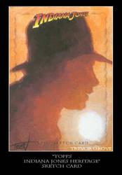 Sketch Card-Indiana Jones 24 by TrevorGrove
