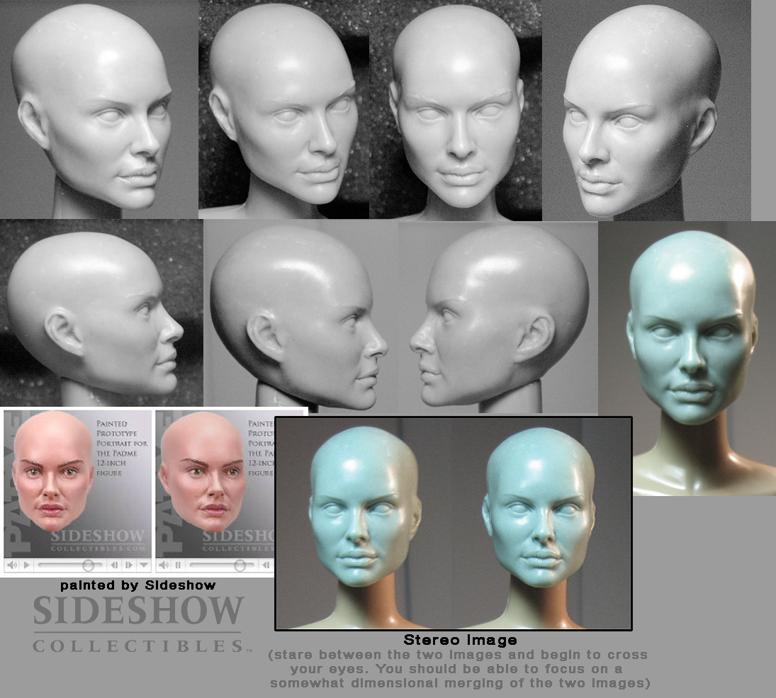 Bald Padme headsculpt by TrevorGrove