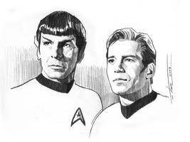 Kirk and Spock by TrevorGrove