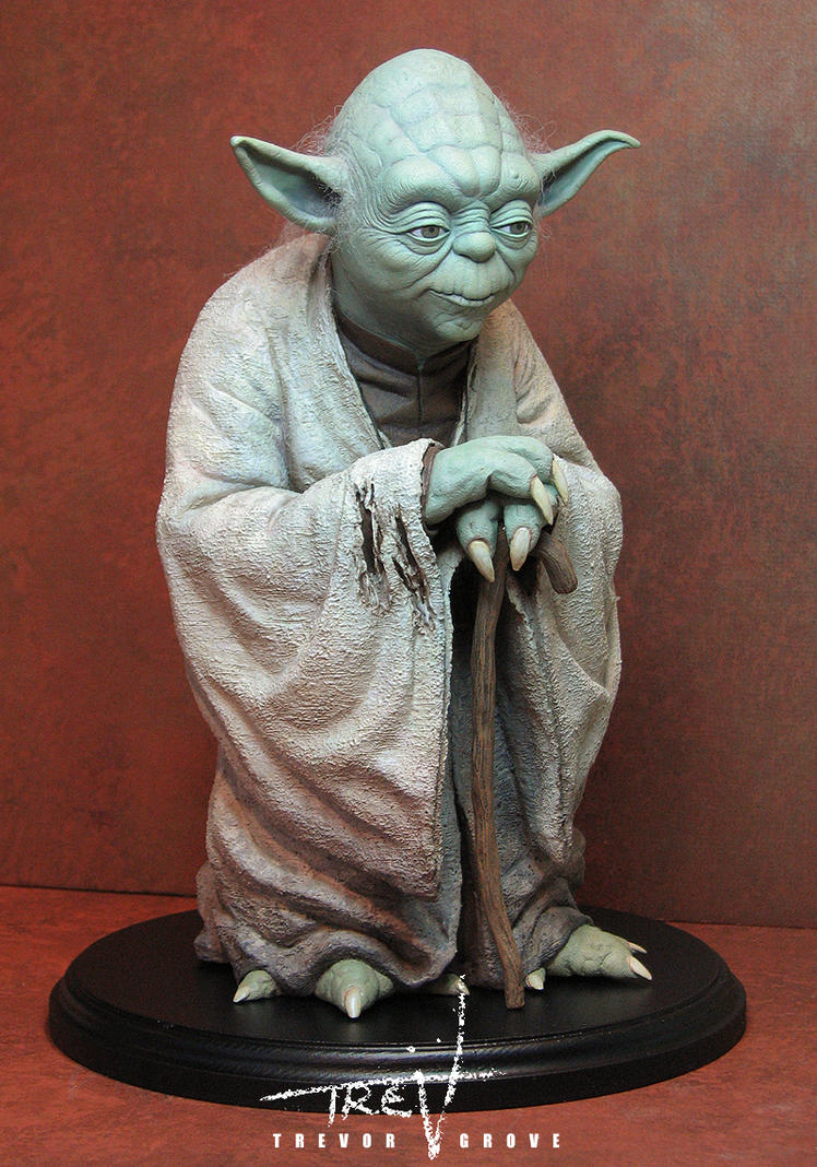 yoda statue by trevorgrove on deviantart. Black Bedroom Furniture Sets. Home Design Ideas