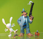 Sam and Max Freelance Police figures