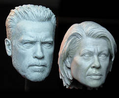Terminator: Dark Fate NECA Headsculpts